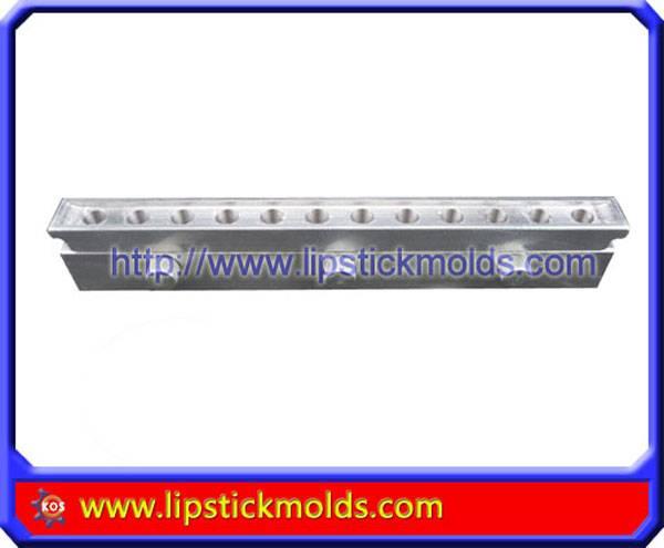Custom make 12 Cavity 12.1 mm caliber lipstick mold for moondrop shape