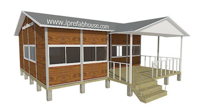middle-sized single layer smart pre-made light steel villas,66.25 sq.m.