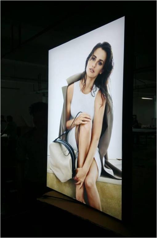 Fabric Led Light Boxes 80mm Thickness Fabric Frameless Backlit LED Illuminated Light Box