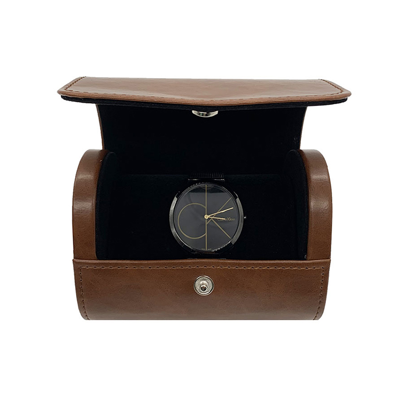 Custom brown PU Leather watch box for jewelry