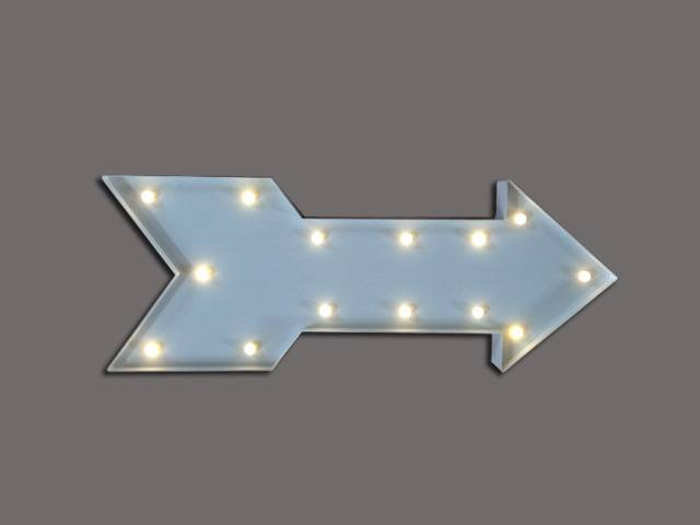 LED letters/signs/marquee arrow