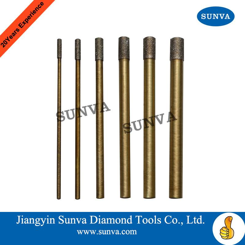 SUNVA Diamond Drills(diamond plated drills on copper tube) / Diamond Drill Bits / Diamond Tools
