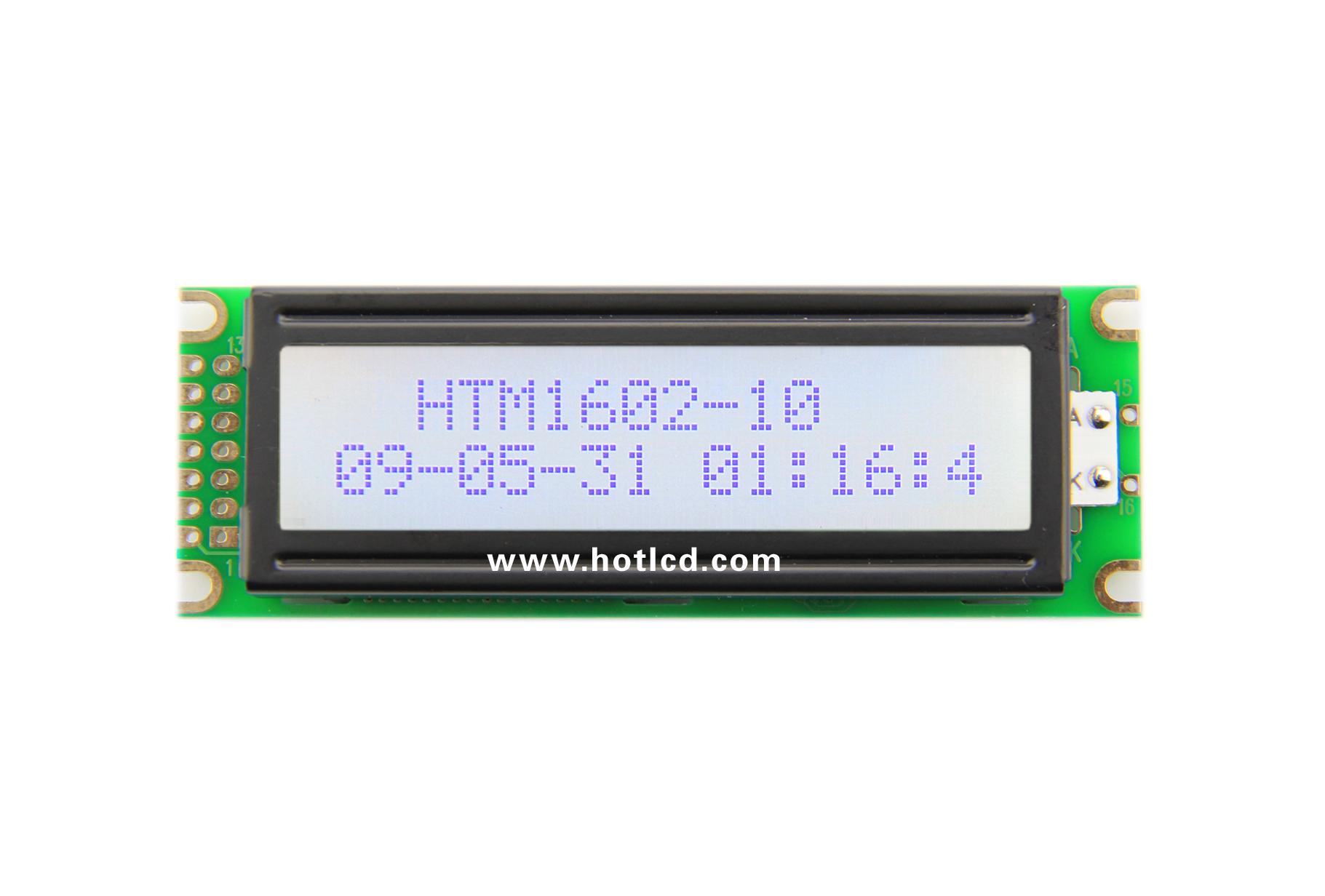 16x2--The more common 16x2 character dot matrix module(HTM1602-10)