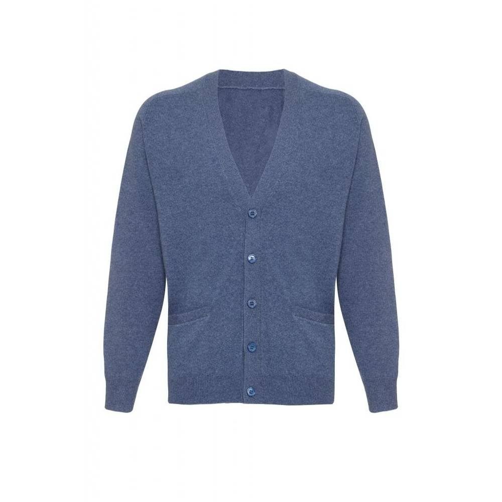 Men V Neck Bottons 100% cashmere Long Sleeve cardigan