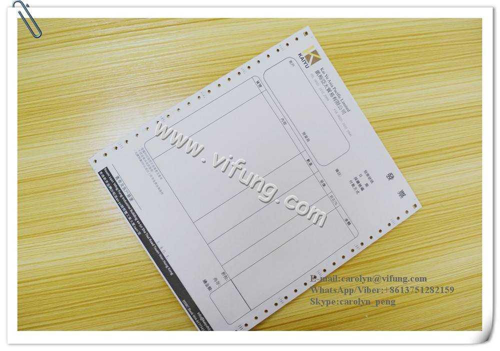 Carbonless Invoices with backside printing
