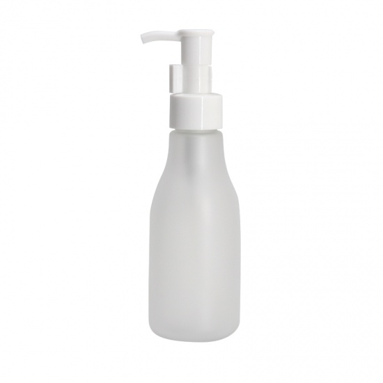 Frosted White PET Plastic Cosmetic Empty Bottle For Lotion
