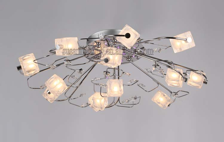 modern crystal low-voltage ceiling light lamp /pendant lamp