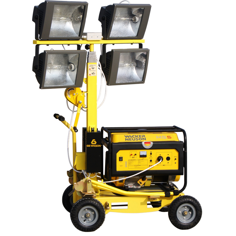 China supplier wacker type lighting tower with manual lifting