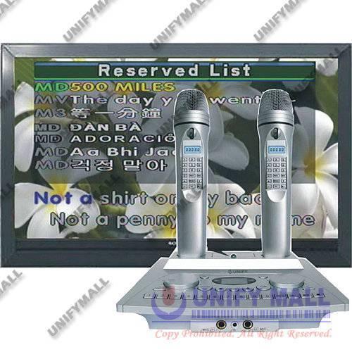UNIFY SJ-KOD100 HDD/SD Karaoke Magic Microphone + Dual MK100 Wireless Sub Microphone