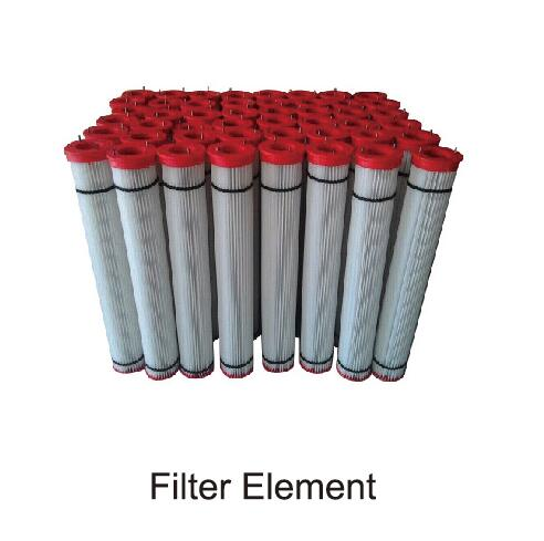 filter element of mixing plant