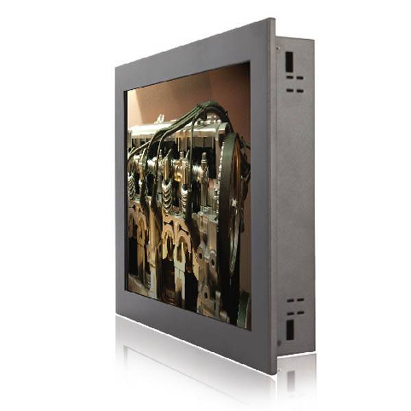 10.4inch Panel Mount Resistive Touch LCD Monitor/ 800x600n/230cd / RGB, DVI
