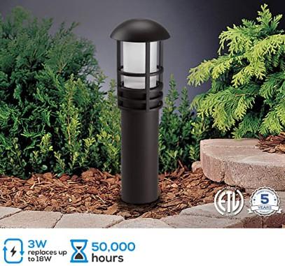 3w Low Voltage LED Landscape Lighting - 12V Low Voltage Garden Lights with Aluminum Lamp Housing