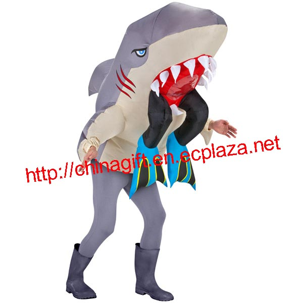 Inflatable Adult Costume - Shark Head