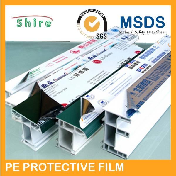 pvc window profiles pe protection tape/aluminum formae/aluminum door protection film