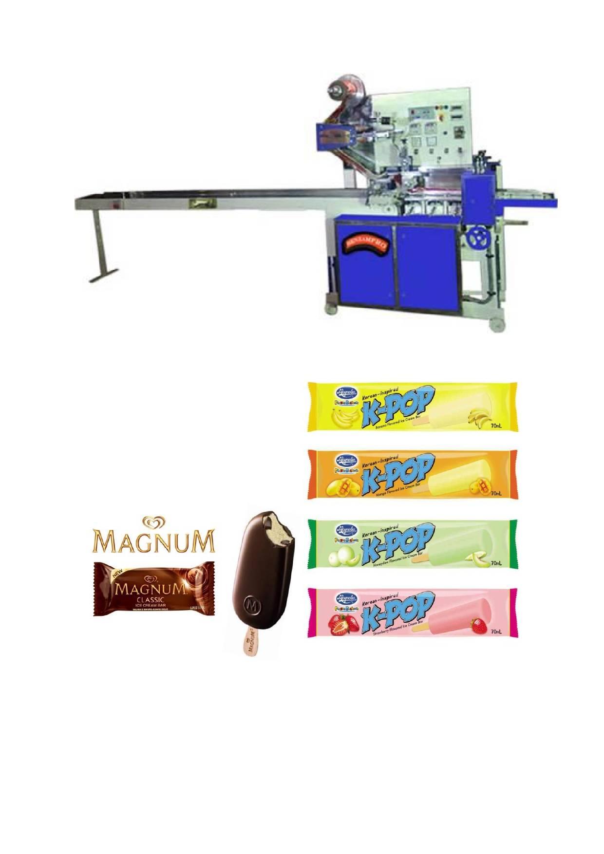 Automatic Ice Cream Bar Packing Machine