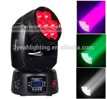 Stage Light Moving Head Light 7PCS 12W Osram LED Sharp Beam, Romantic Wedding Decoration Princess Be