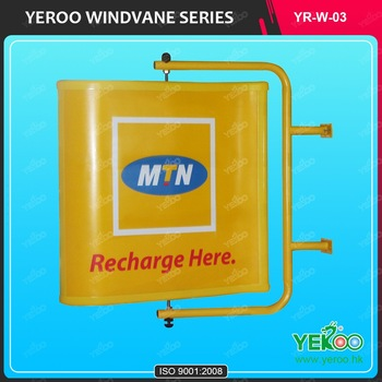MTN Project Customized Advertising Waterproof Wall Mounted Windvane