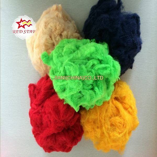 Recycled polyester staple fibre