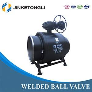 Heating System Welded Ball Valve With the Handle Gear Box