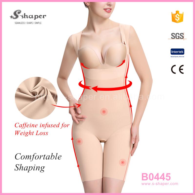 S-SHAPER Slimming Corset Sleeveless Caffeine Infused Bodysuits B0445