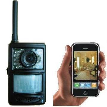 GSM/MMS Alarm with Camera Captures Picture of Intruder and Sends to Mobile Phone and E-mail Address