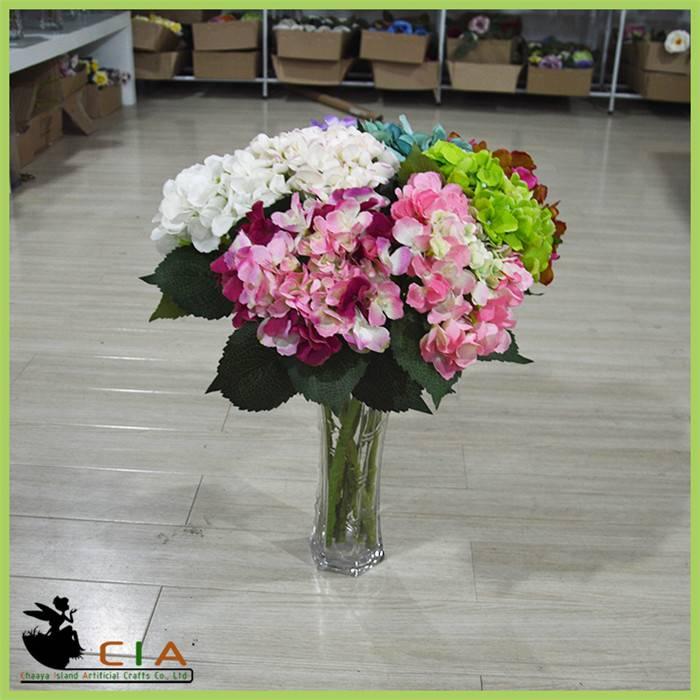 Factory Direct Artificial Fabric Hydrangea Flower