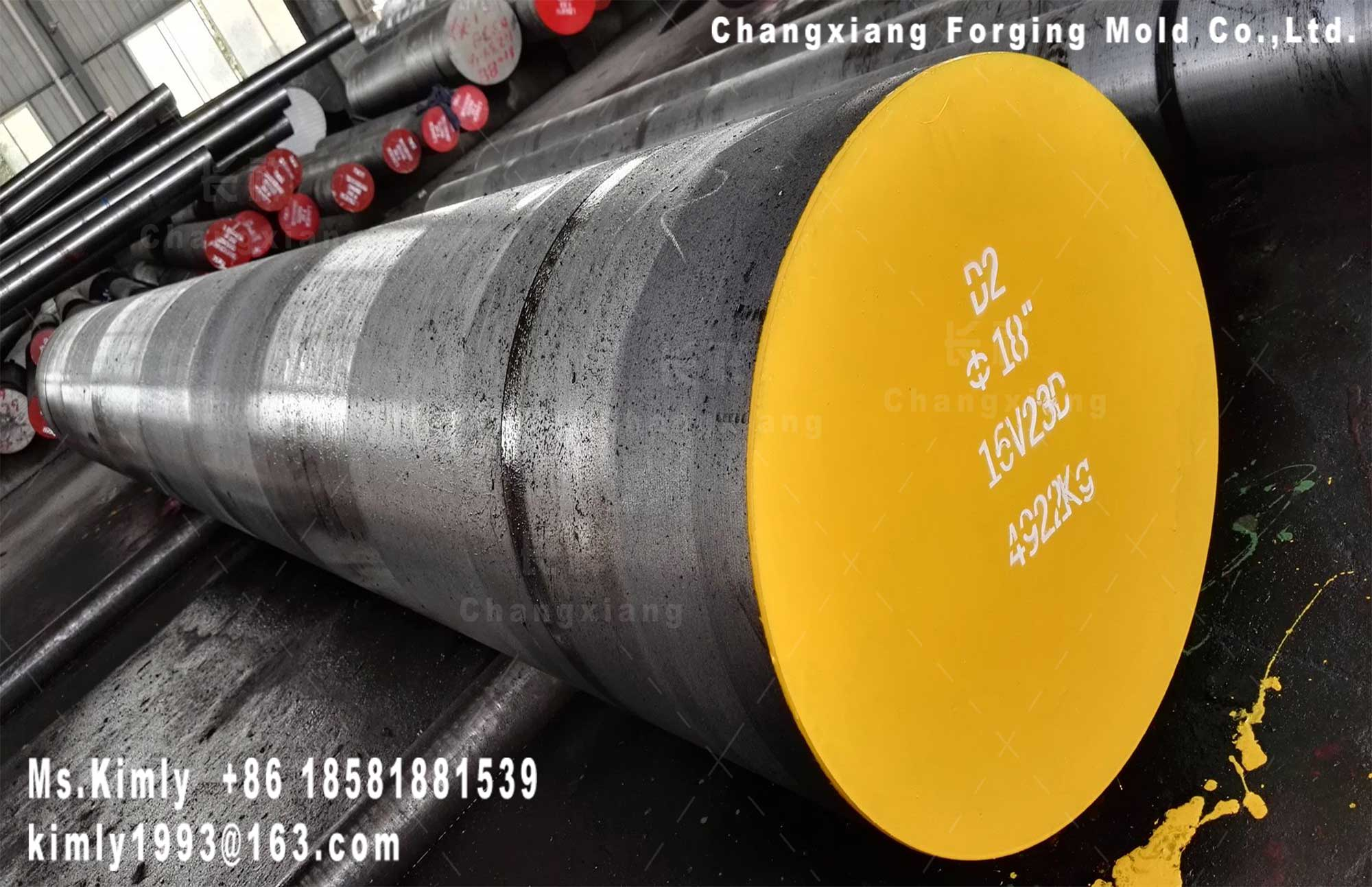 Forged mold die stainless special tool steel AISI D2 flat round bar forging