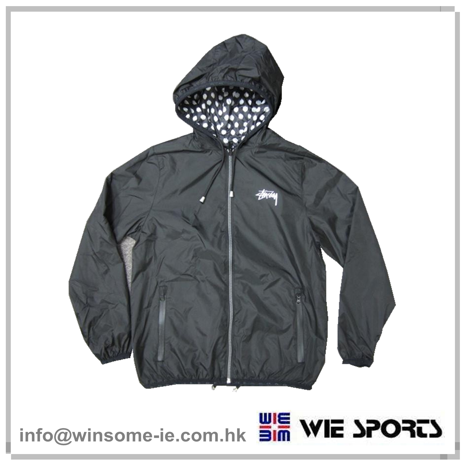 Fitness jacket with hood