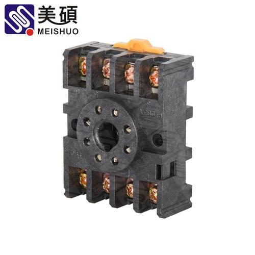 MEISHUO PF083A socket 8pin embedded screw relay socket Relay base