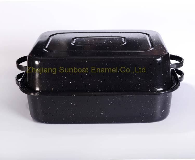 Sunboat Enamel Deep Tray large capacity baking tray