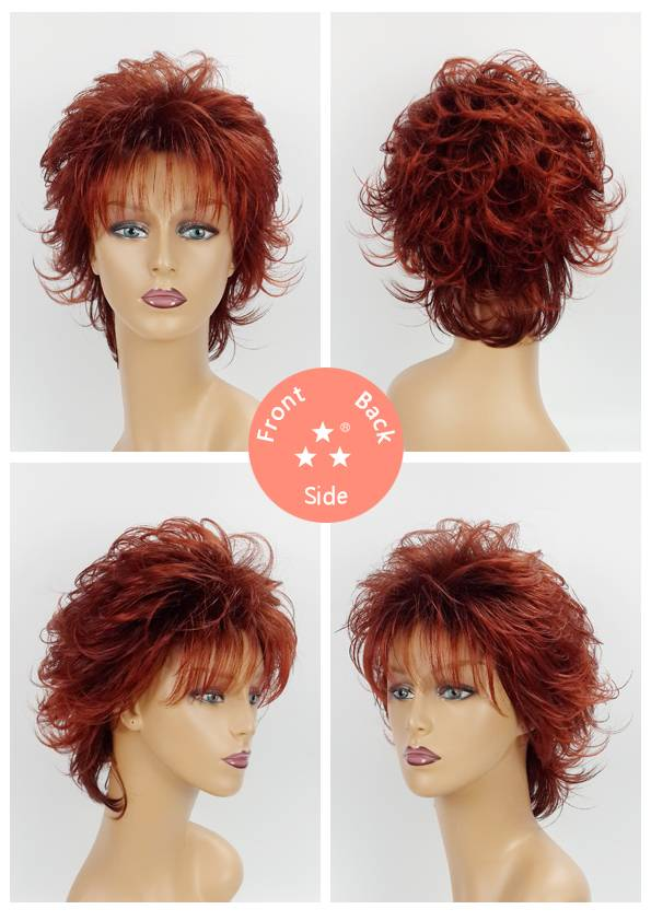 Female / Synthetic Wig Style No. 3252A 4T350/Short/Curly/Hotsale