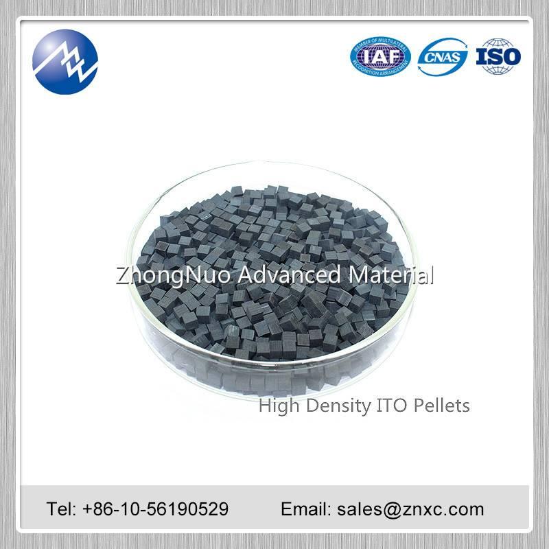 1-3mm 99.99% In2O3:SnO2 tablet 90:10wt% ITO granule