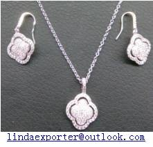 fashion 925 silver necklace &earring set