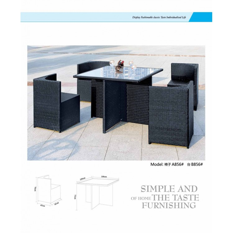 Black outdoor furniture 0402-A856