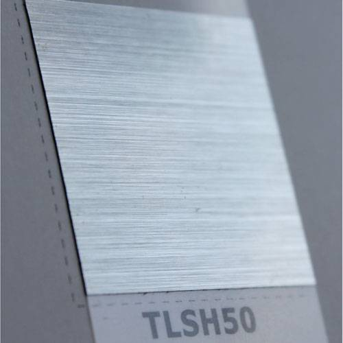 Polyester silver brushed film