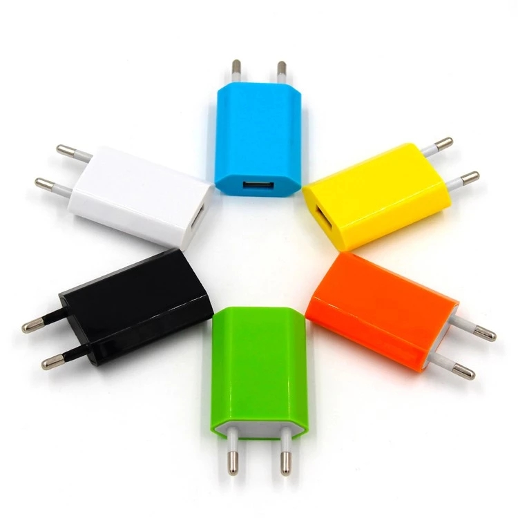 CE RoHS 5V 1A EU Wall Charger Fast Charger For iPhone Samsung Mobile Phone