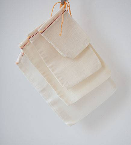 Muslin Bag/ Cotton Muslin Drawstring Bag/ Cotton Pouch