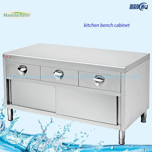 Stainless Steel Kitchen Base Cabinet with Drawers/Metal Island Bench Cabinet