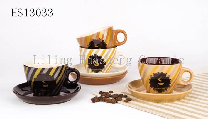 ceramic cup & saucer