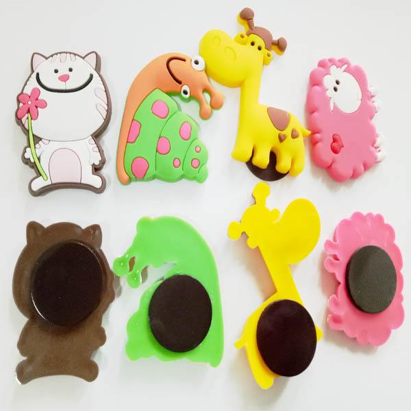 OEM Plastic rubber Souvenirs PVC Fridge Magnet Memo Sticker
