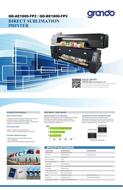 Direct Sublimation printer(GD-AE1800-FP2)