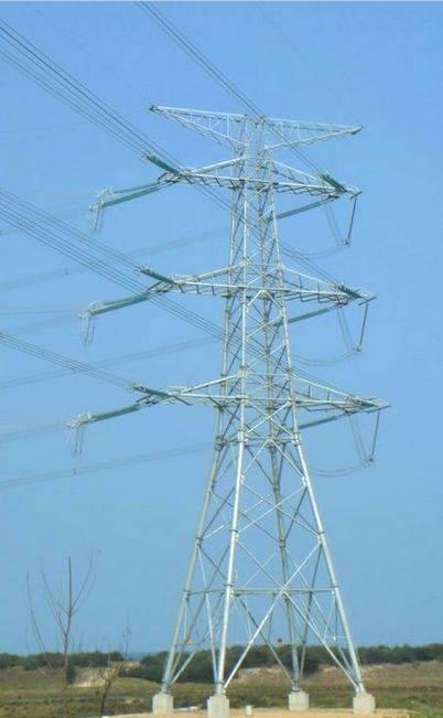 lattice power transmission tower