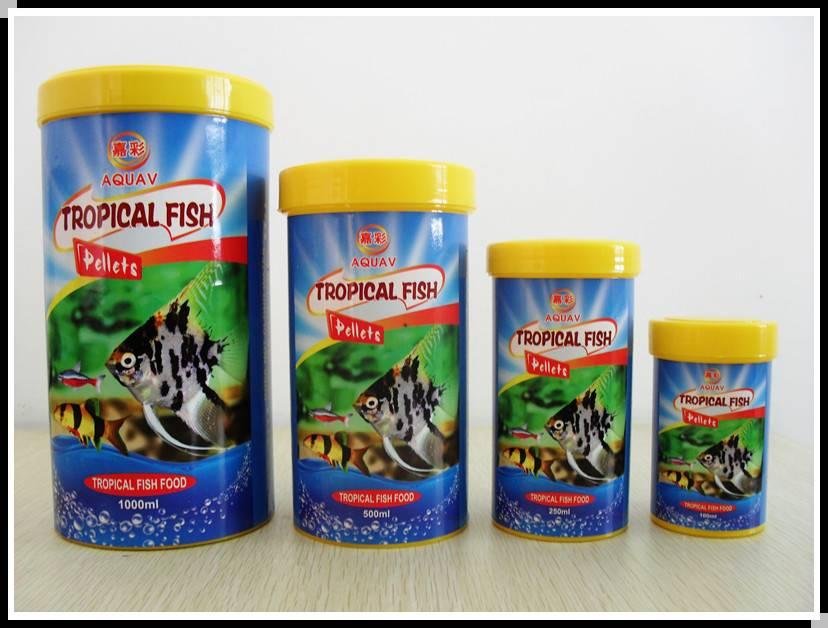 Tropical fish pellets