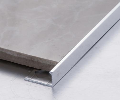 Aluminum Tile Trim L Shape Square Shape Matt Silver Metal Wall Corner