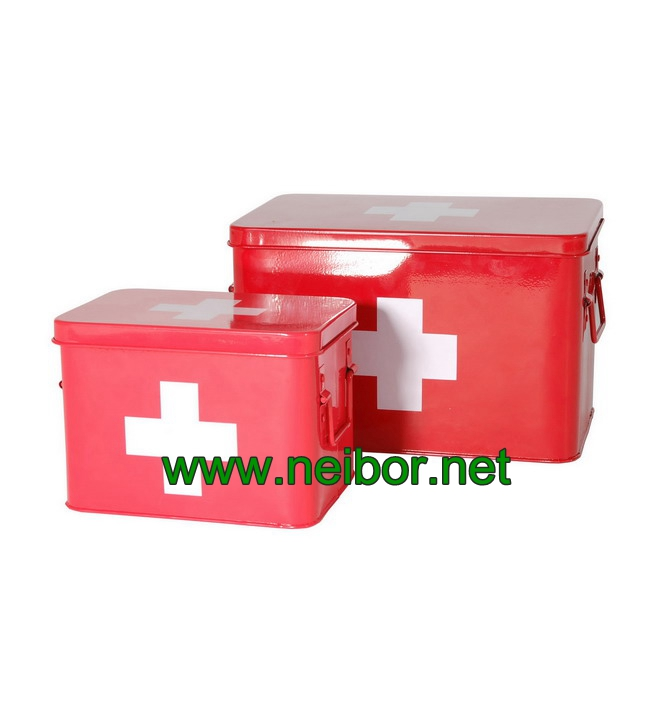 metal medicine boxes first aid box