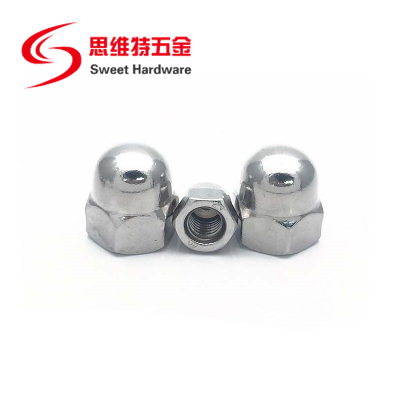 DIN1587 Stainless steel A2 A4 304 Connecting Hex Domed Cap Nuts M3-M20
