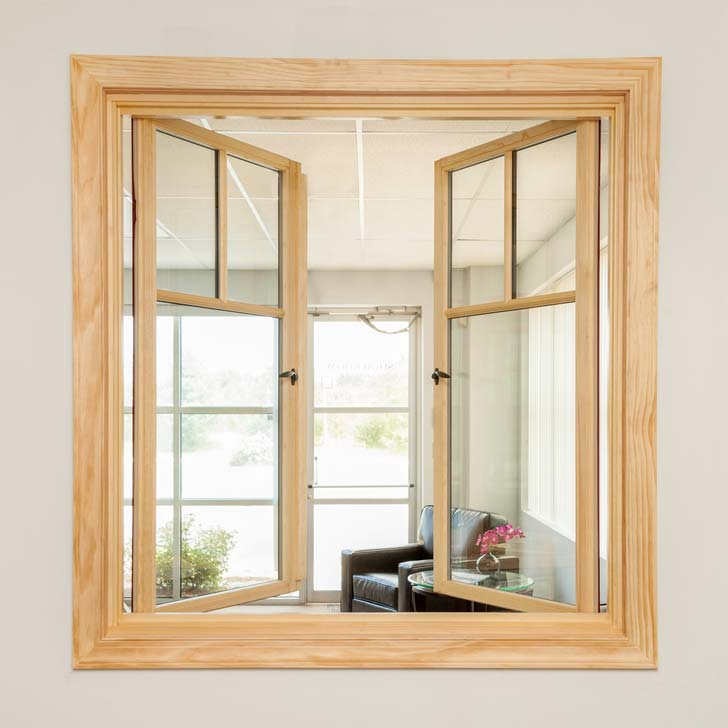 aluminum casement window with blind in double glass manufacturer in guangzhou