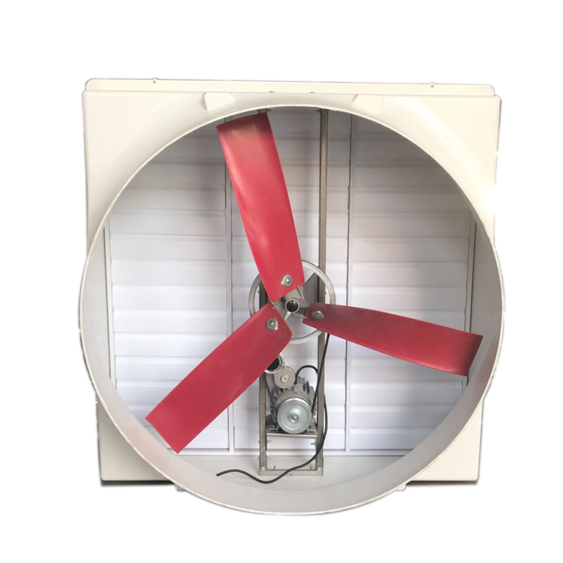 FRP WALL MOUNTED VENTILATOR WITH THREE RED BLADES