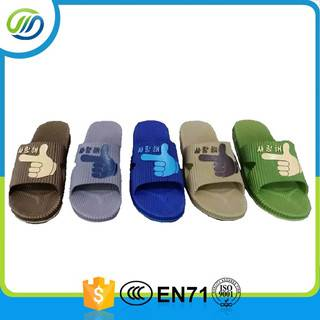 Air blowing pvc slipper for men wholesale