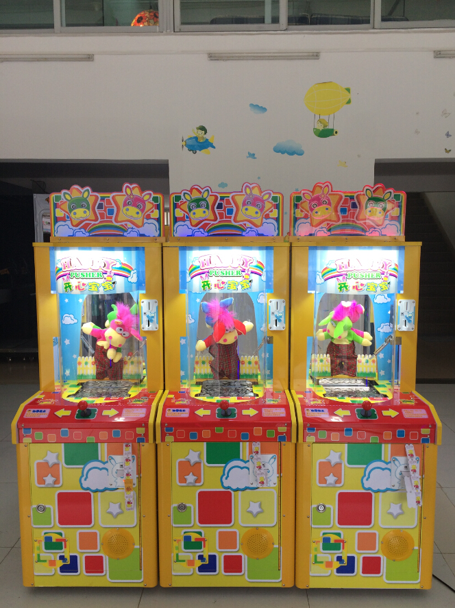 Happy Pusher Coin Pushing Machine Amusement Game Machine Coin Operated Machine